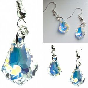 Swarovski Aurora Baroque Pendant Hook Earrings NWT